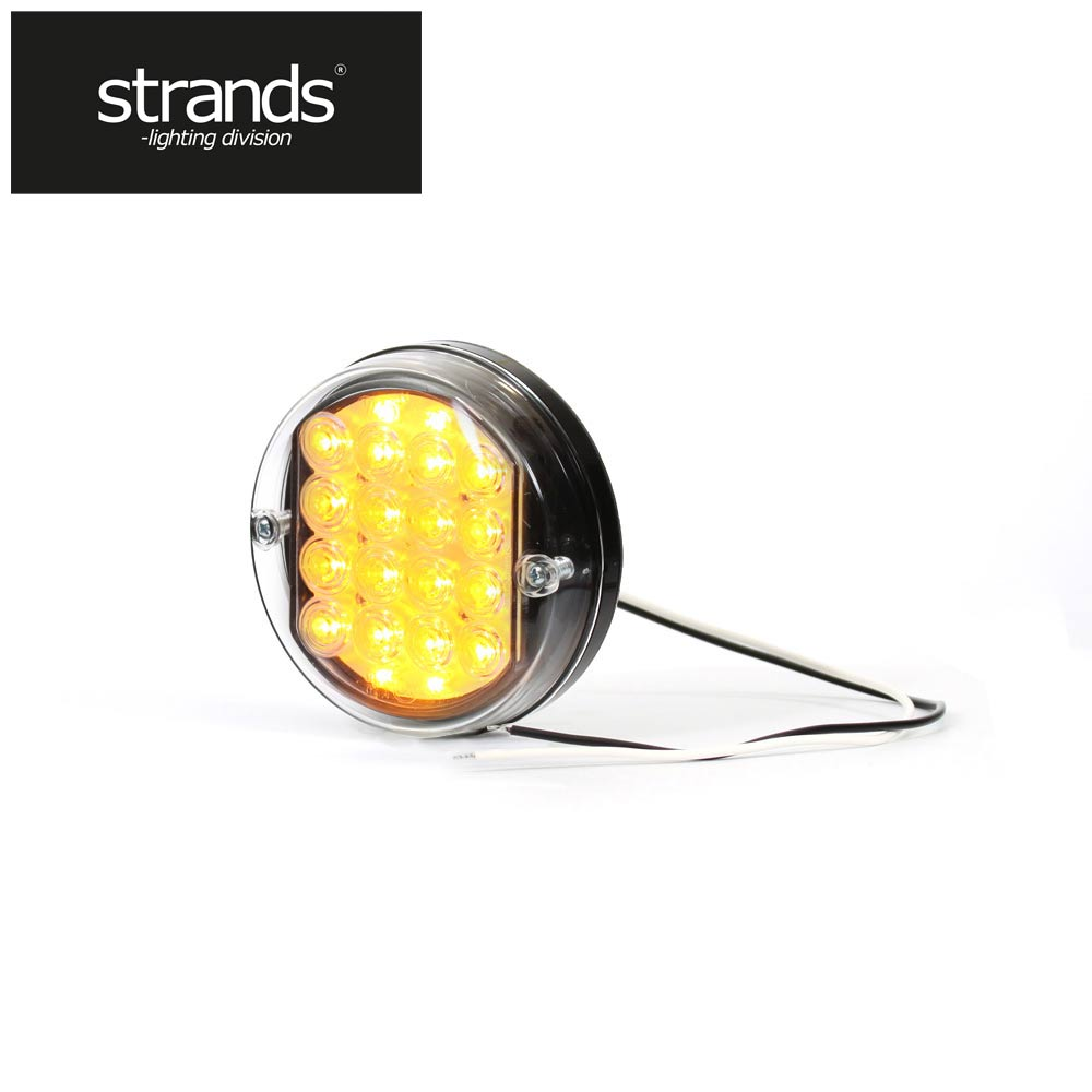 strands round led indicator 24v 115mm diameter strands. Black Bedroom Furniture Sets. Home Design Ideas
