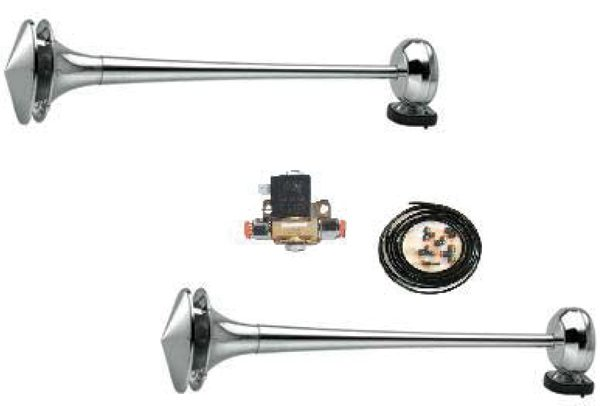 air horn kit stainless steel  incl  bracket   front cover